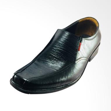 Kickers Kulit Asli Sepatu Pantofel Pria - Hitam