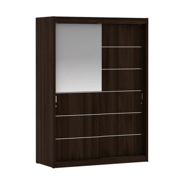Pro Design 150HN Vegas Lemari Pakaian 2 Pintu Geser - Brown Walnut