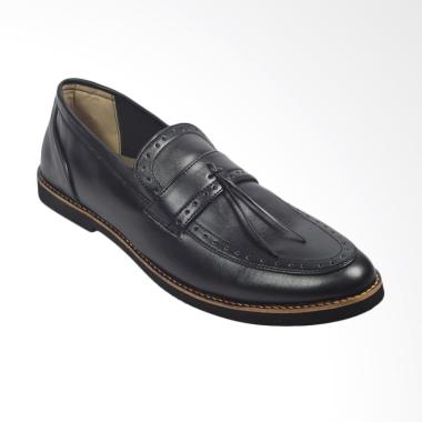 Giant Flames Pietra Vintage Pantofel Sepatu Pria - Black