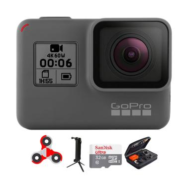 GoPro Hero 6 Combo Attanta Deluxe 32 GB Spin Action Camera - Black