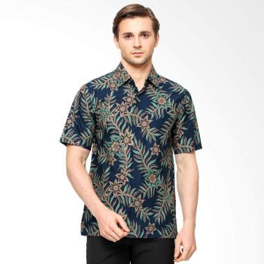 Anakara Batik Men Pandani Short Sleeve Batik Pria - Blue