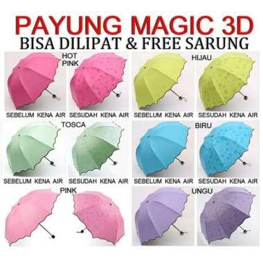 harga Jual Payung Lipat Magic Motif 3D - Magic Umbrella - Timbul Motif Saat Basah Diskon Blibli.com