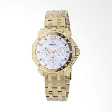 Expedition 6402 Jam Tangan Wanita - Gold White