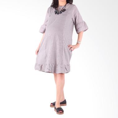 HMILL 1460 Baju Dress Hamil - Coklat