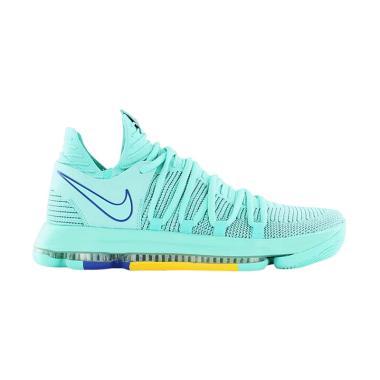 NIKE Zoom KD10 Sepatu Basket Pria - Green