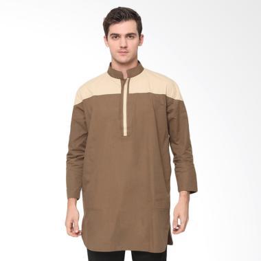 Zayidan Muzaffar Baju Muslim Gamis Pria - Khaki