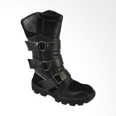 CBR Six Sepatu Boot Pria - Hitam [HRC 384]