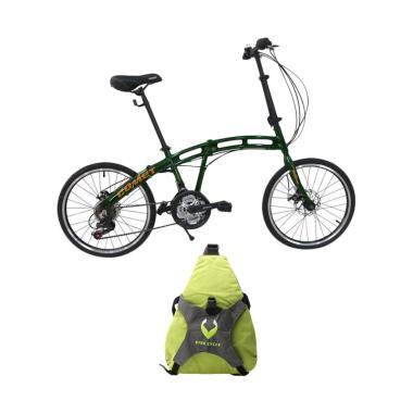 Paket Bundling - Vivacycle Comet Fo ... - Green + Free Tas Sepeda