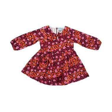 Kids Icon Pattern Print Dress Anak Perempuan