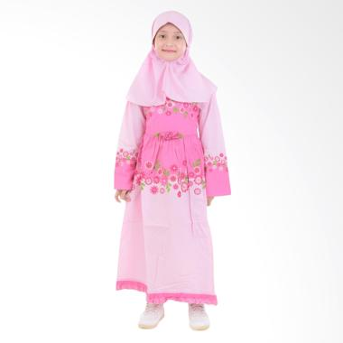 Jesca and Paul Ayesha 208 Gamis Baju Muslim Anak - Pink