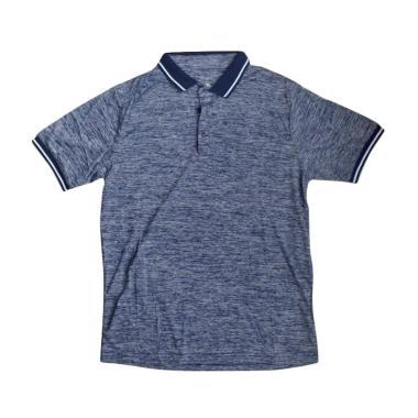 Ping Tai Fu Shi Polo Pakaian Fitness Pria - Biru Navy [P016#]