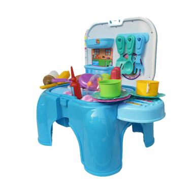 SNETOYS Kitchen Set Mainan Anak - Blue
