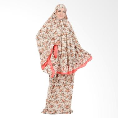 Boontie Motif Bunga Arabela Qirani Mukena - Orange