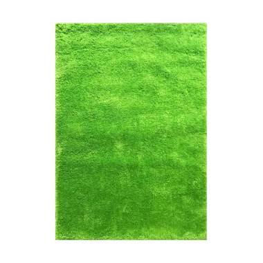Vision Soft Shaggy Polos Karpet - Lime Green [160 x 220 cm]