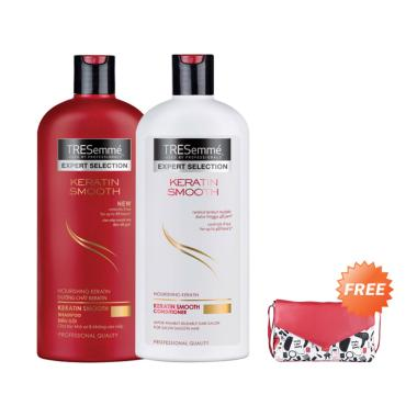 TRESemme Keratin Smooth Shampoo & C ... [340 mL] + Free Sling Bag