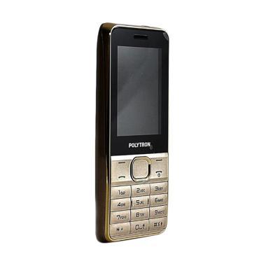 POLYTRON C24E Handphone - Gold [Dual SIM/ Double Speaker/ Big Battery]