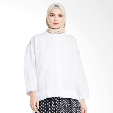 Delarosa Ruffle Tunik Baju Muslim - White