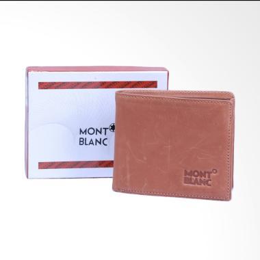 WIN Leather Full Kulit Asli Mont Blanc Dompet Pria - Cokelat [DP-01]