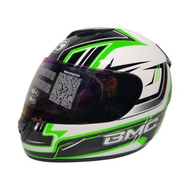 BMC Blade 200 #6 Helm Full Face - White Green Fluo