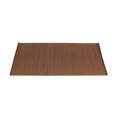 Hagihara Motif Lurik Igusa Karpet - Coklat