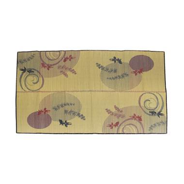 Hagihara Motif Tetesan Air Igusa Karpet - Merah