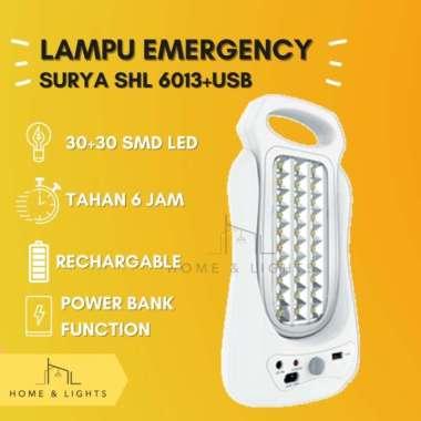harga HOT ITEM! EMERGENCY LIGHT 2 SISI SMD -LED + POWERBANK - SURYA SHL6013 Multicolor Blibli.com