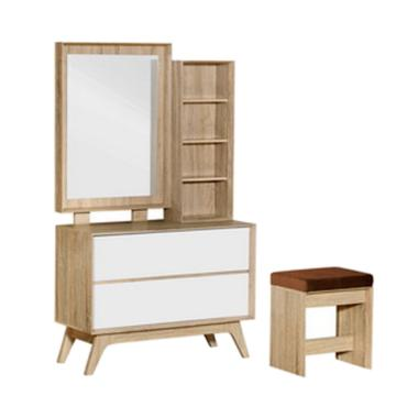 Indira Furniture G MR 2226 Meja Rias - Natural Oak