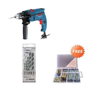 Bosch GSB 550 Paket Mesin Bor + Mul ... s + Free Skrup Fisher Set