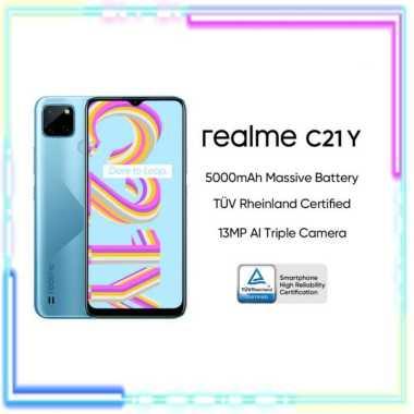 harga REALME C21Y 3/32 NEW GARANSI RESMI REALME BLACK Blibli.com