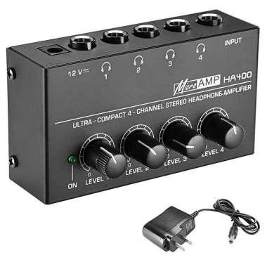 harga PROFESSIONAL HEADPHONE AMPLIFIER 4 CHANNEL MICRO AMP HA400 Blibli.com