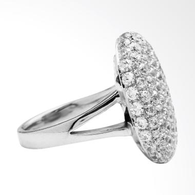 Burning Secret Berlian Cincin Wanita - Silver [Size 7]