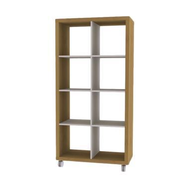 JYSK Koge Toppan Room Divider Lemari Buku - Oak [81 x 39 x 156 cm]