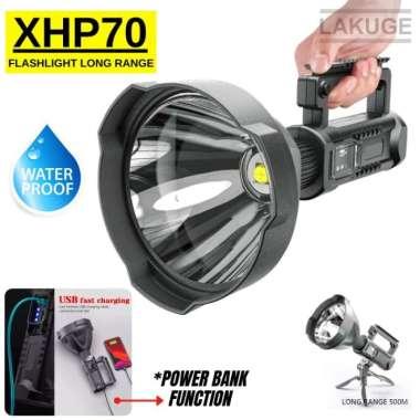 harga Senter Sorot Big Lamp 8000 Lumens LED XHP70.2 Waterproof + Tripod Multicolor Blibli.com