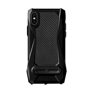 Totu Protective Carbon with Stand Casing for Apple iPhone X 5.8 Inch