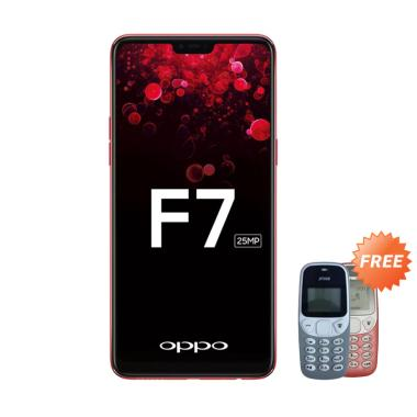 OPPO F7 Pro Smartphone - Red [128GB/ 6GB] + Free Prince Pc-5
