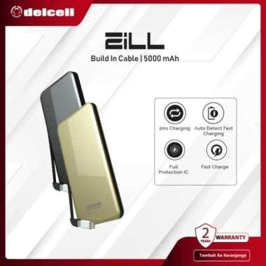Dijual Delcell 5000mAh Powerbank ZILL Real Capacity Slim Powerbank Polymer - BLACK Diskon