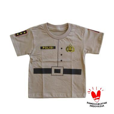Azura Baby & Kids Lucu Polisi Baju Atasan Anak - Brown