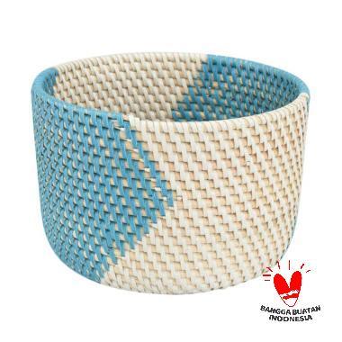 harga Kerajinan Lokal MJ Rotan Mangkuk - Blue White [Size S] Blibli.com