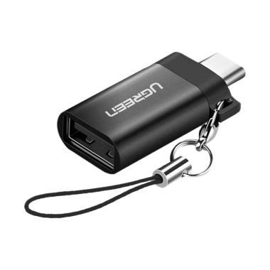 Ugreen 50283 USB 3.0 to type-C Adap ... OTG with keychain - Hitam