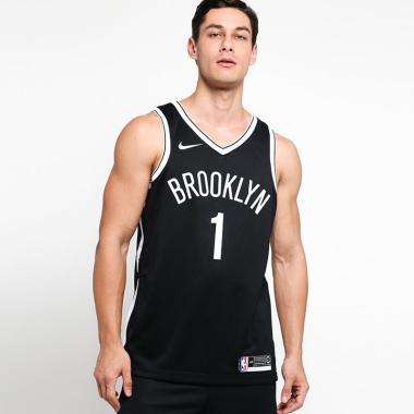 39f9f82a0 NIKE Men Basketball Brooklyn Nets D Angelo Russell Swingman Road Jersey  Basket Pria  864459-014