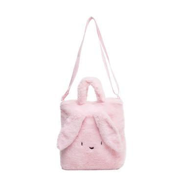 WIGGLO Fluffy Rabbit Sling Bag Tas Sekolah - Pink