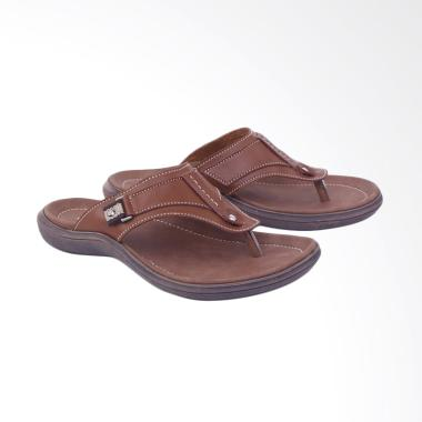 Garsel Kasual Sandal Pria - Coklat [G1GAS 3434]