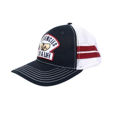 Tendencies Classic Fist Bump Stripes Topi Trucker Pria - Navy White