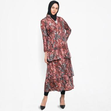 Kasa Heritage Carol Long Dress Gamis Wanita - Brown