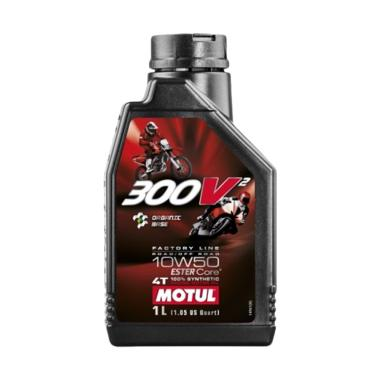 Oli Motul 300V2 SAE 10W 50 Factory Line Road Off Road 4T Oli Pelumas Motor [1 L]