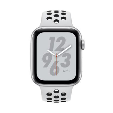 Apple Watch Series 4 Nike Aluminum Case With Pure Platinum Sport Band Smartwatch Black 40mm Gps