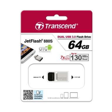 Transcend JetFlash 880 OTG Flashdisk [64 GB/ USB 3.0]