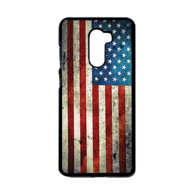 harga HEAVENCASE Motif Bendera Amerika 03 Casing for Xiaomi Pocophone F1 - Hitam Blibli.com
