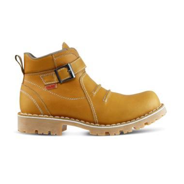 Golfer Safety Sepatu Boots Pria - Tan  6187  f9f99157e5