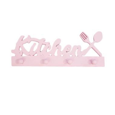 Prima Shabby Craft Wooden Kitchen Capstok Hiasan Dinding [Panjang 40 cm]